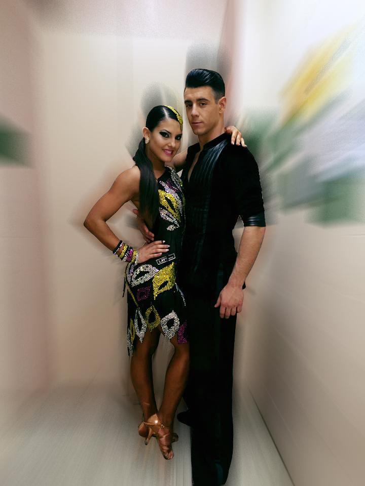 David Morante e Ines Ferrero con zapatos de baile ADS